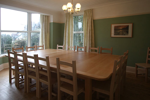 The dining room at Hazelwood in Kewick, the Lake District