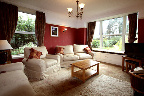 The main sitting room at Hazelwood self catering accommodation in Keswick
